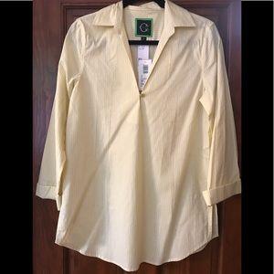 NWT C. Wonder pinstripe blouse!